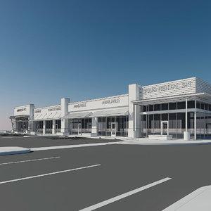 3d 3dmodel retail modern