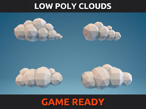 clouds ready games 3d model