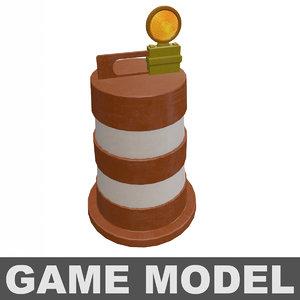 obj orange safety barrel