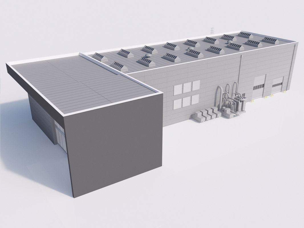 3d model industrial building 07