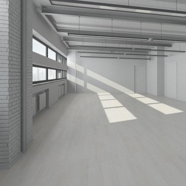 industrial interior scene max