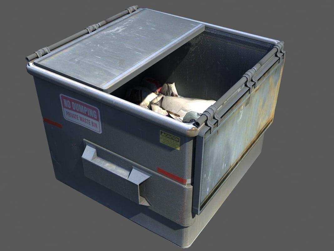 small dumpster 3d model