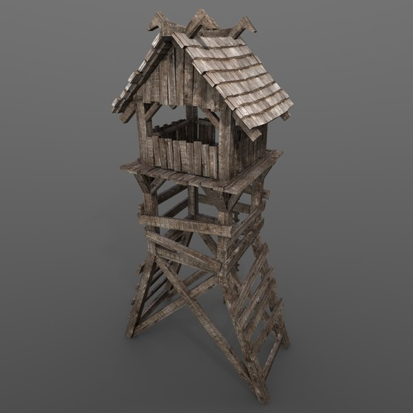 obj medieval guard tower