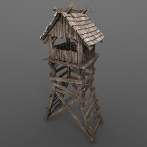 obj medieval guard tower