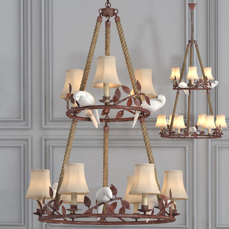 3d chandelier 9 lighting