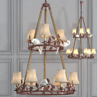3d chandelier 9 lighting