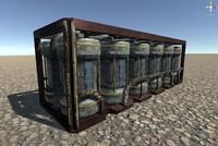 container barrels 3d model