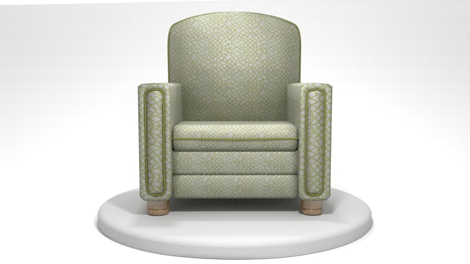 fabric chair 3d 3ds