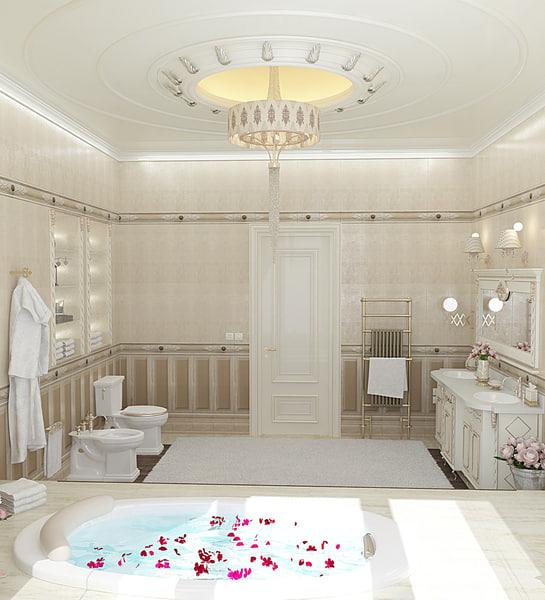 3d interior design bathroom furniture model