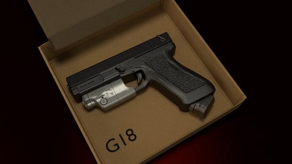 free glock 18 3d model