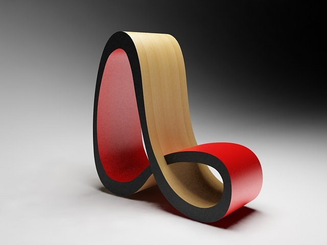 infinity chair design 3d model