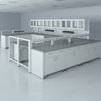 lab furniture typical set 3d model