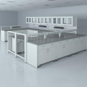 lab furniture typical set 3d model