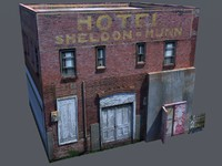 3d derelict small model