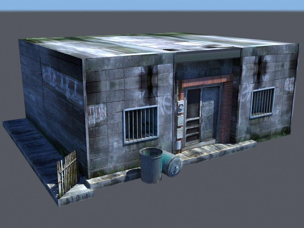 rundown building 3d max