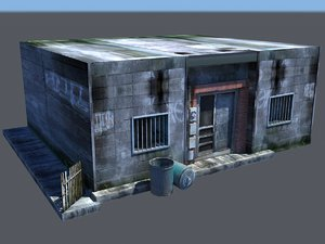 rundown building 3d model