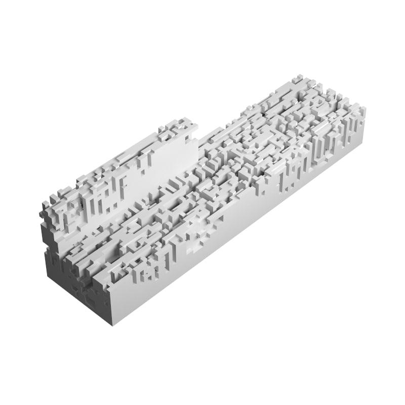 n-omino i-block 2 3d model