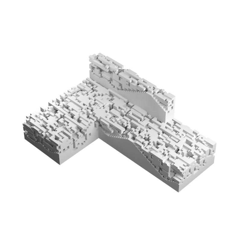 3d n-omino l-block 5 model