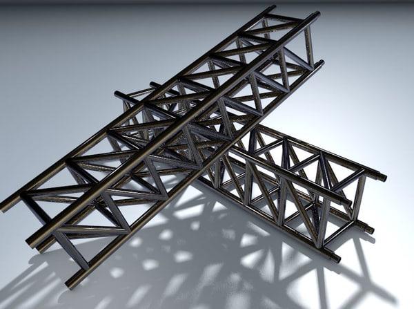 trussing chrome 3d c4d