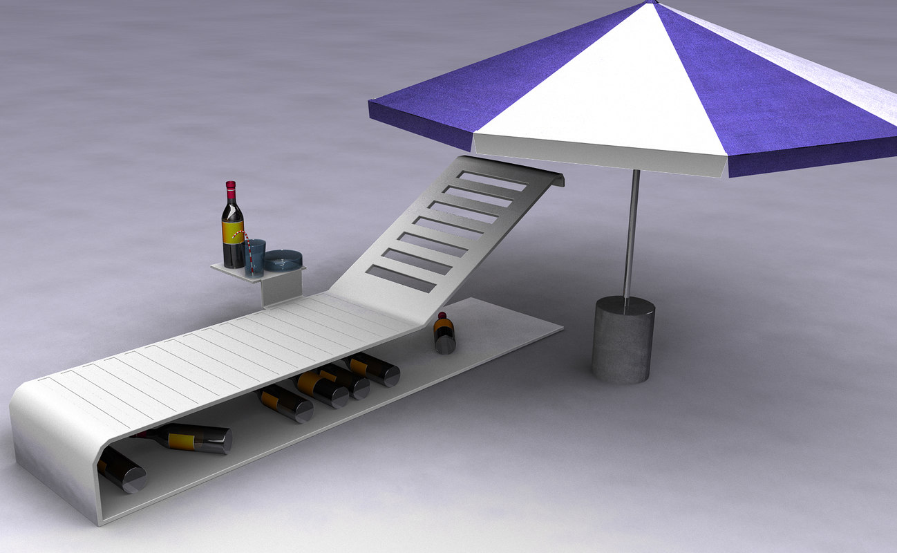 lounger 3d model