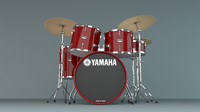 3d model yamaha drums kit