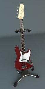 fender jazz bass 3d model