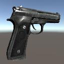 3d model m9 pistol