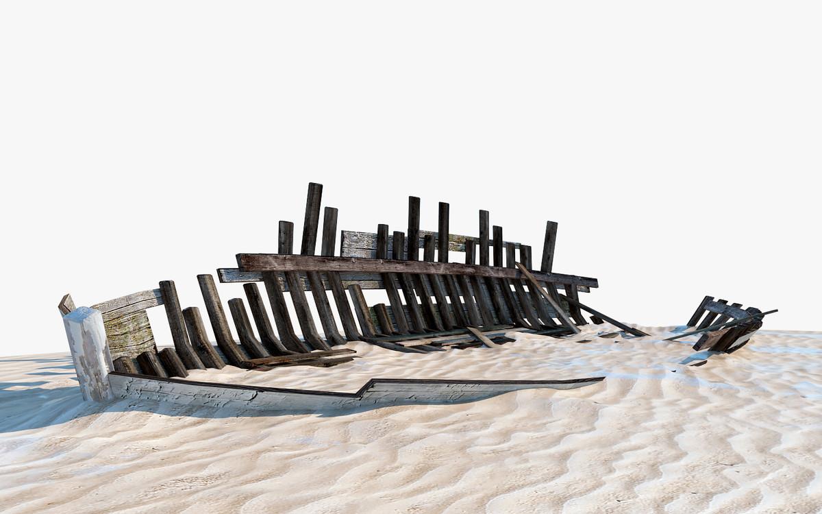 3d boat wreck
