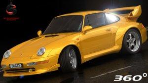 porsche 911 gt2 interior 3d max