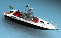 3d model sport fisher boat