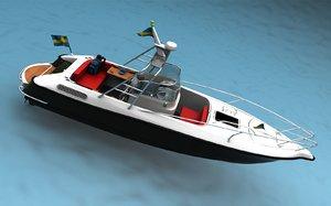 3d model sport fisher boat