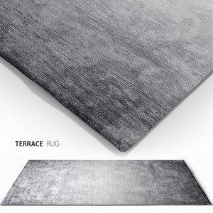 3d model terrace rug