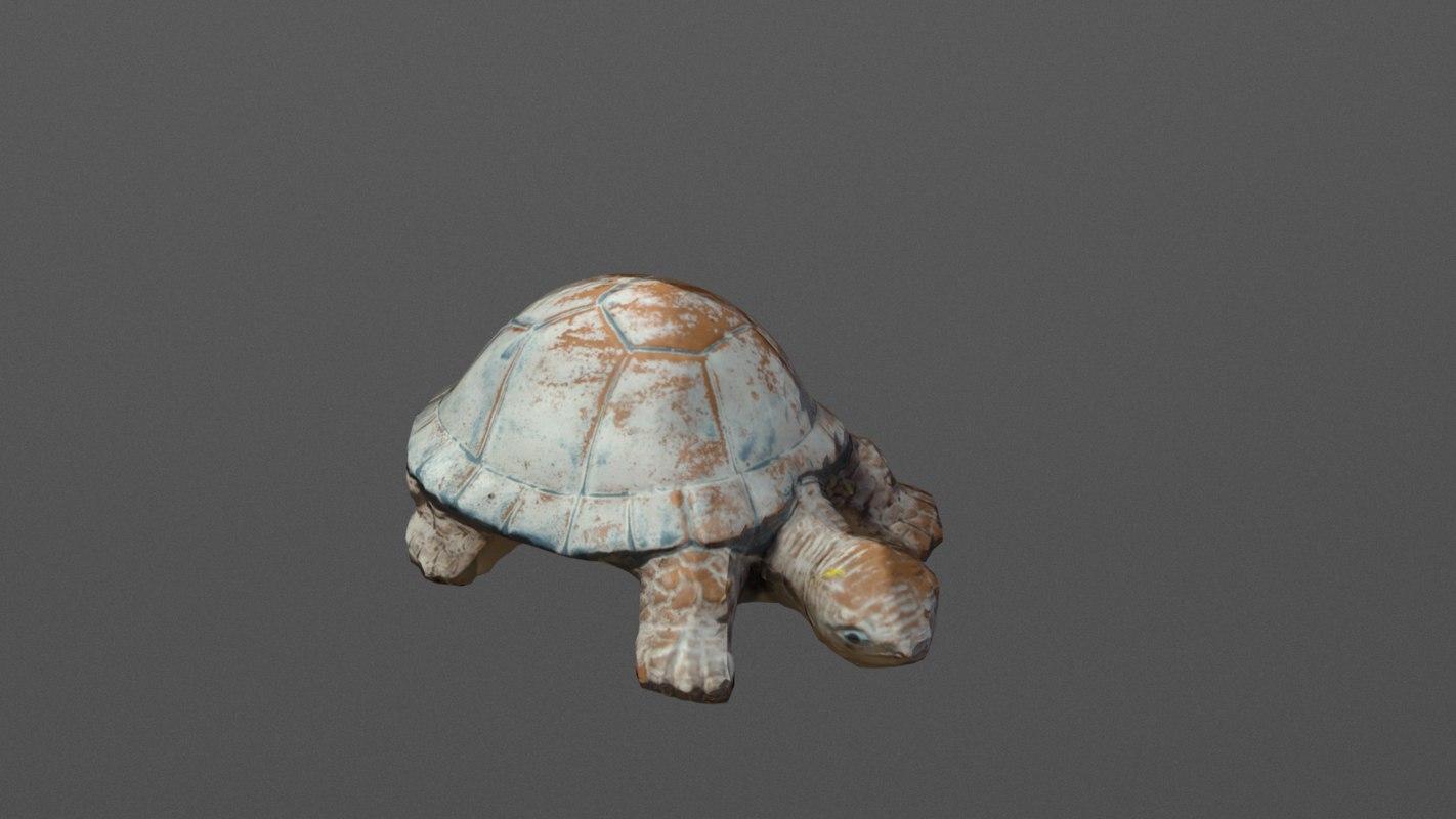 terracotta turtle 3d model