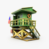 3d model lifeguard station