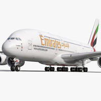 airbus a380-900 emirates 3d 3ds