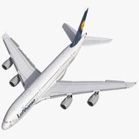 Airbus A380-900 Lufthansa Rigged