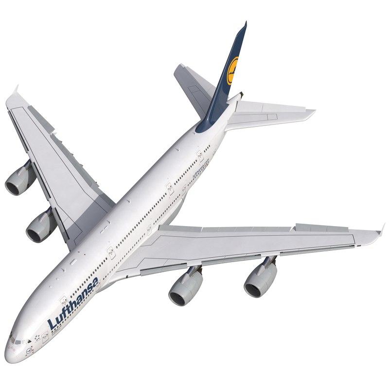 airbus a380-900 lufthansa rigged max