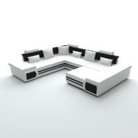 sofa u shaped obj free