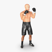 Adult Boxer Man 2 Pose 2 3D Model