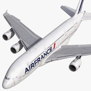 airbus a380-900 air france 3d model