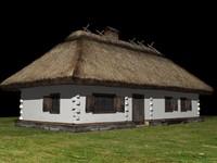 old ukrainian house 19th 3d model