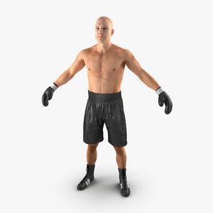 3d adult boxer man 2 model