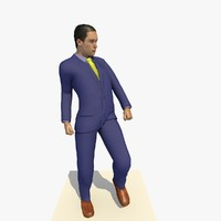 realistically european man blue 3d model