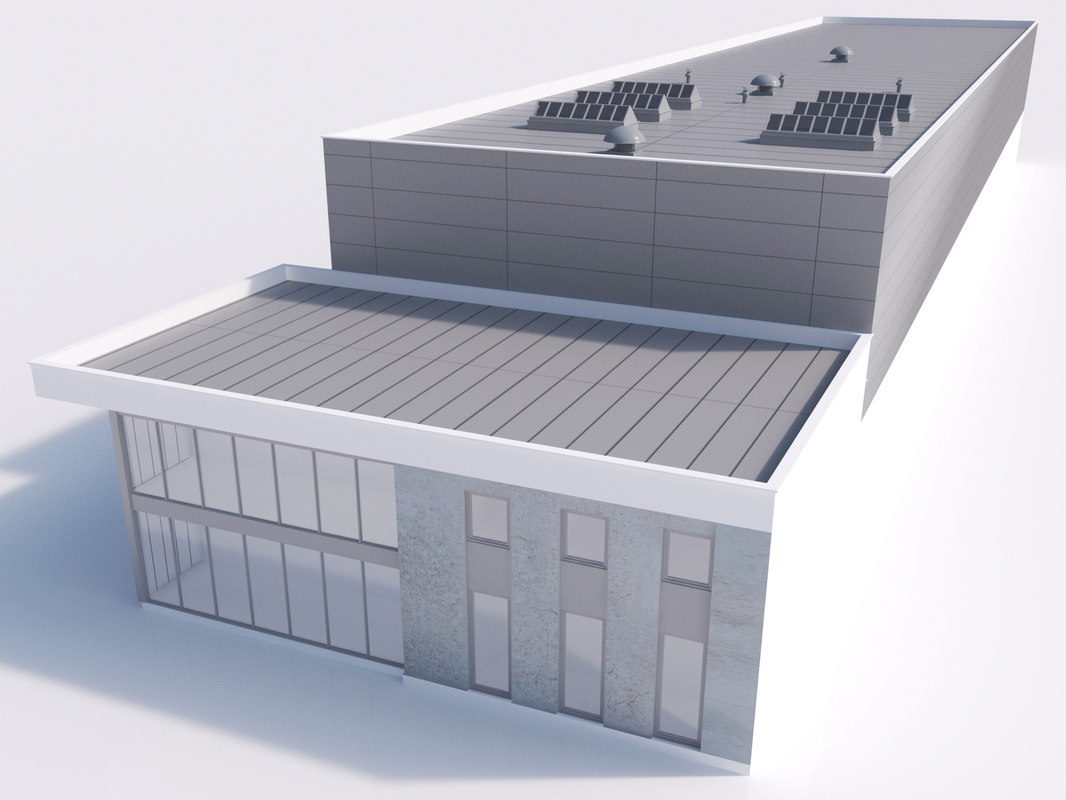 industrial building 10 3d fbx