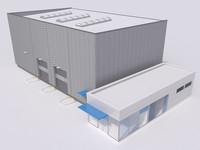 industrial building 11 3d model