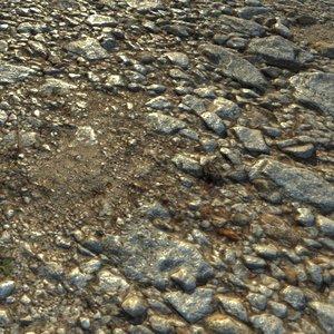3d rocky ready surface model