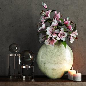 3d model of flowers