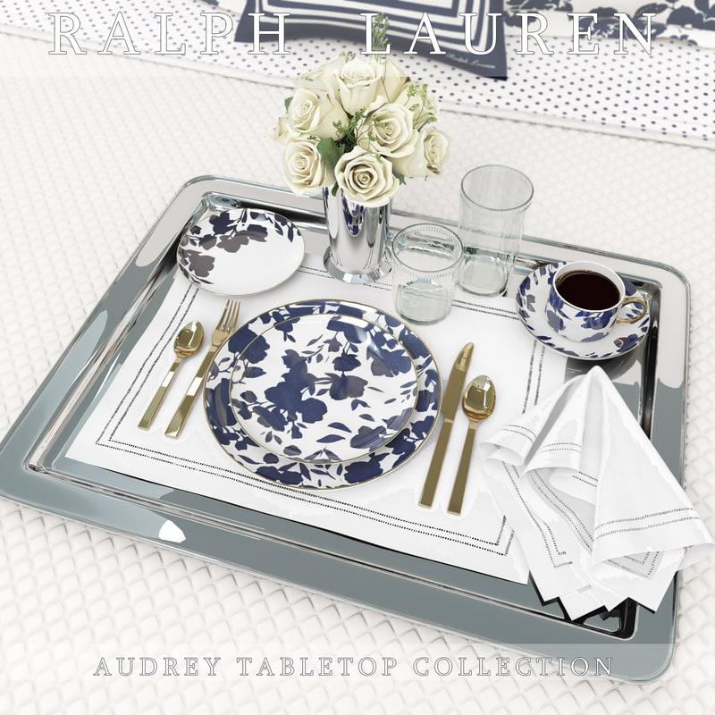 ralph audrey tabletop 3d max