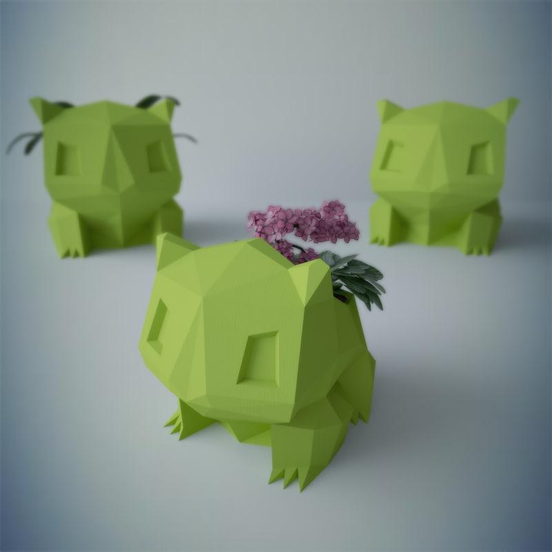 printed bulbasaur flower potting 3d max