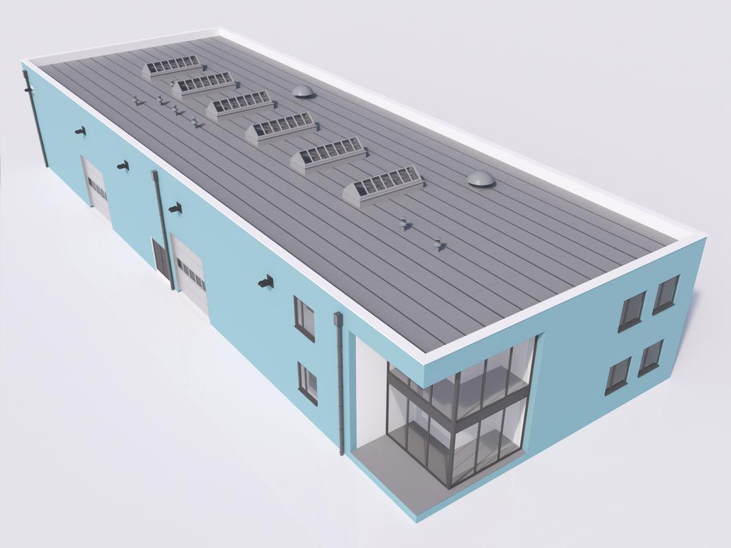 3d industrial building 12
